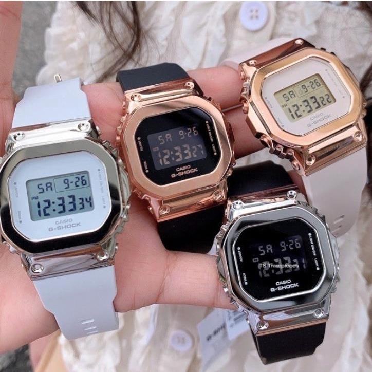 卡西歐 G-Shock Gm-S5600 女士手錶不鏽鋼手錶 Gshock 防水女士手錶女士男士手錶