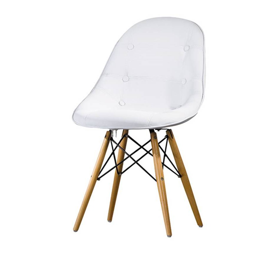 【HB477-17】 喬伊絲白色皮造型椅