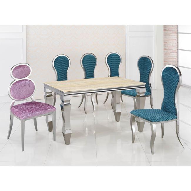 【SC345-3】不銹鋼布面造型椅(8字型)