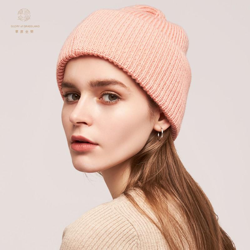 【烈兒推薦】草原全榮羊毛帽子女秋冬季毛線韓國保暖針織簡約包頭