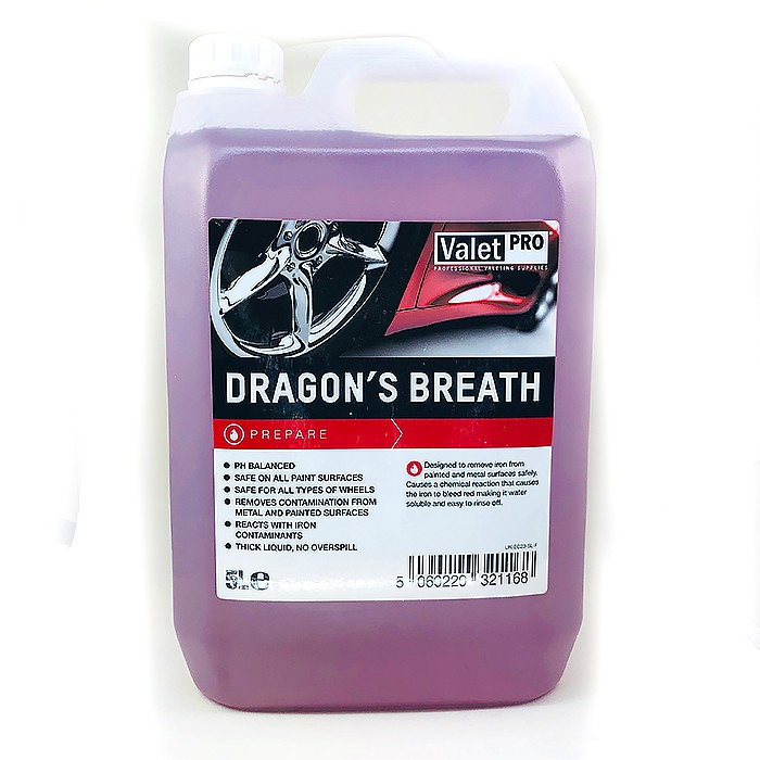 英國 Valet Pro Dragon's Breath 5L(VP龍吻鐵粉去除劑) 胎框清潔劑 好蠟