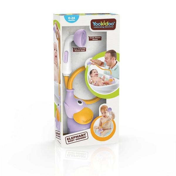 以色列 Yookidoo 洗澡/ 戲水玩具 小象蓮蓬頭-紫