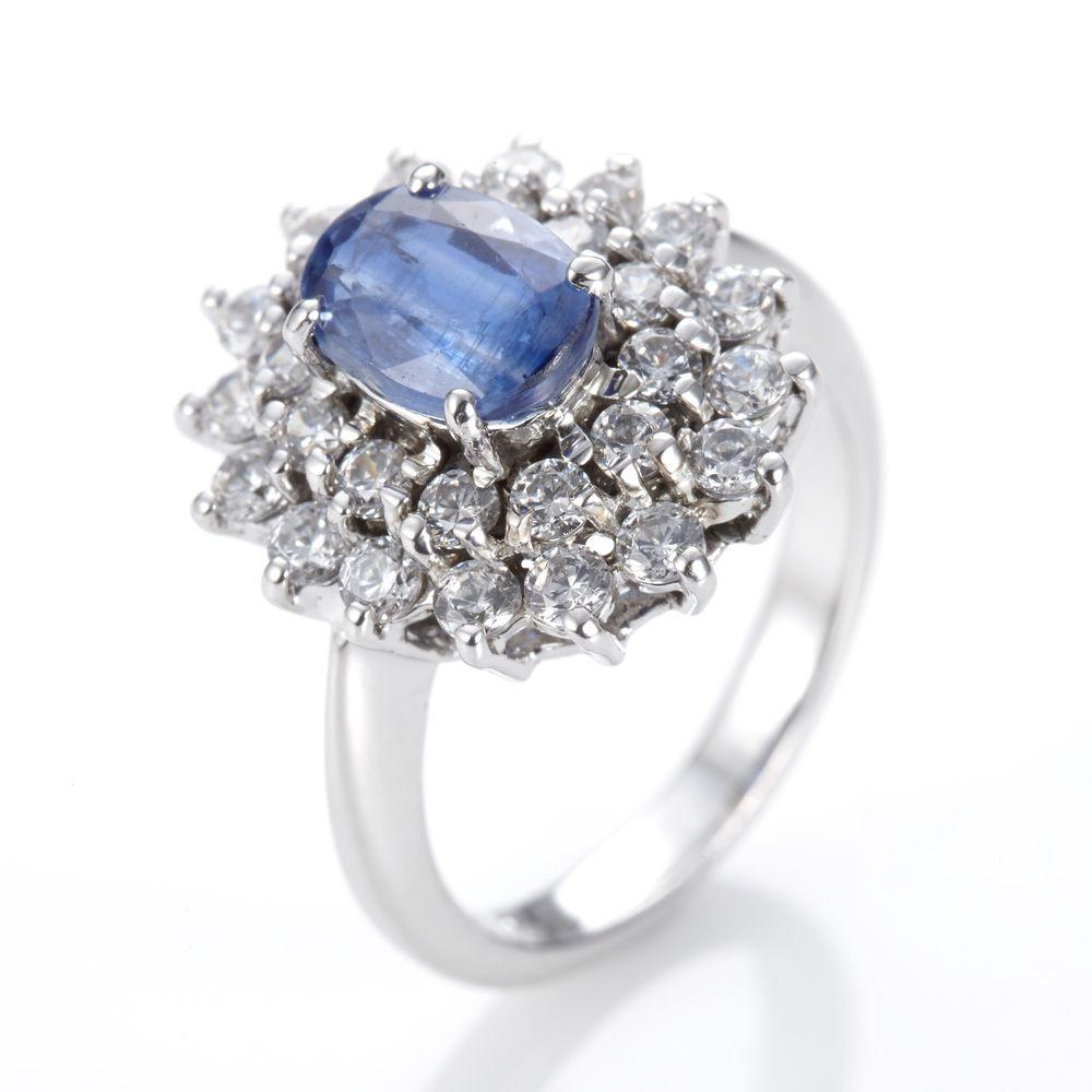 Dolly 天然 1克拉藍晶石 銀飾戒指