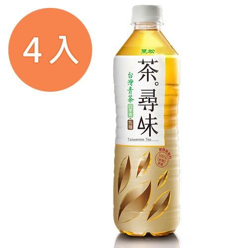 黑松 茶尋味 台灣青茶 590ml (4入)/組【康鄰超市】