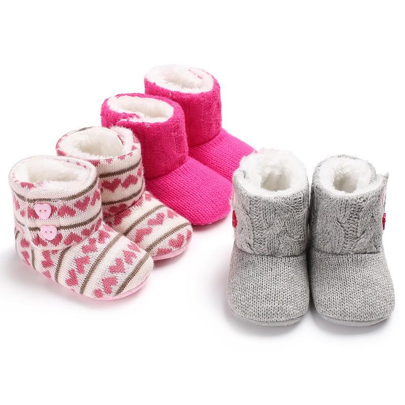 母嬰 秋冬新款童鞋嬰幼童寶寶鞋外貿0-1歲女寶寶保暖加絨軟底嬰兒學步鞋 嬰兒雪地靴