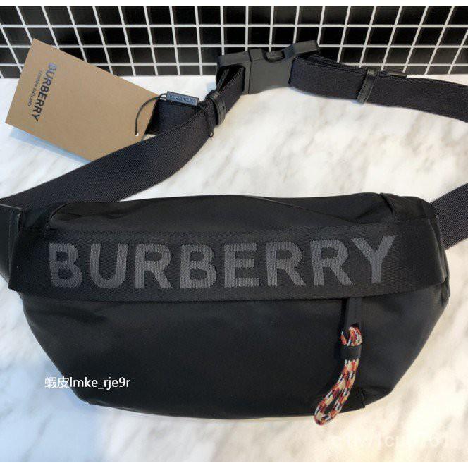 二手BURBERRY 標誌細節設計 ECONYL® Sonny 腰包 80256681 WkcN