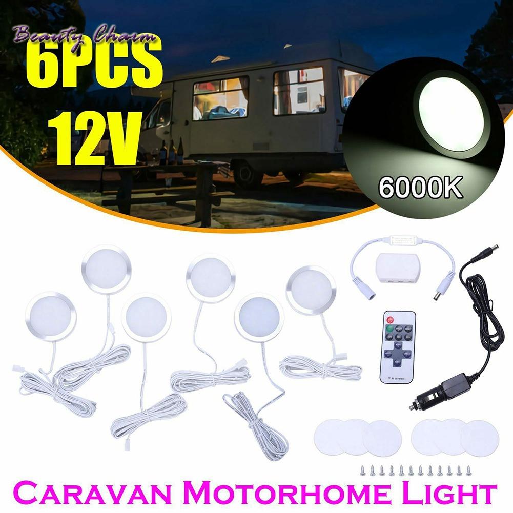 可調 T4 T5 房車燈露營車 6x 室內 Led 射燈汽車燈 12v