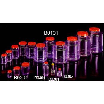 PVC塑膠罐 0.5公升(500c.c) /透明筒/收納罐/收納桶/零食罐/塑膠桶_粗俗(一串6個)如歸小舖