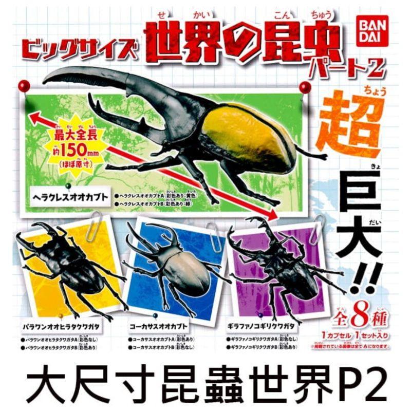 [晴空塔の男]單售區 BANDAI 轉蛋 扭蛋 大尺寸昆蟲世界 超大 獨角仙 甲蟲 鍬形蟲 海克力斯 長頸鹿鍬形蟲 現貨