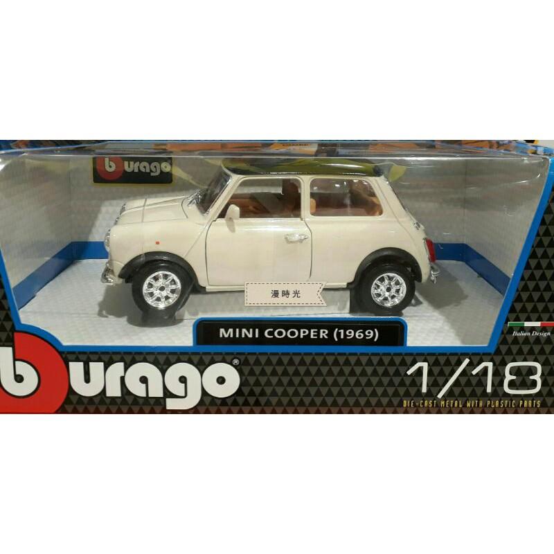 Bburago 1:18 模型車 Mini Cooper (1969) / COSTCO 好市多