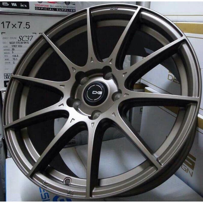 DG FG06 17吋5/114.3古銅色旋壓輕量鋁圈(其他尺吋規格顏色歡迎洽詢)(價格標示88非實際售價 洽詢優惠中)