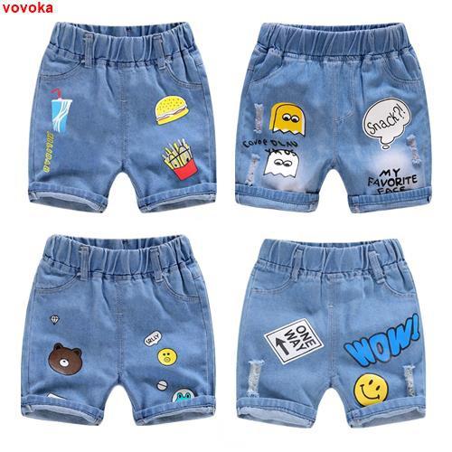 男童短褲夏季薄款兒童寶寶小童2020新款休閑破洞外穿百搭牛仔短褲