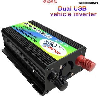3000w Dc 12v 至 Ac 220v 雙 Usb 轉換器充電器適配器汽車電源逆變器 臺北市