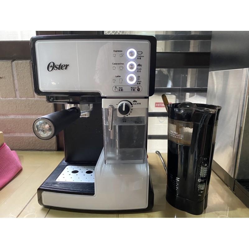 二手咖啡機 美國Oster奶泡大師 半自動 義式咖啡機 乳白色 15Bar 可製作Latte & Cappuccino