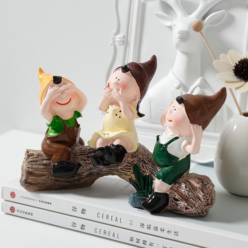 酒柜裝飾家居飾品客廳擺件卡通擺設生日禮物結婚樹脂樹樁三不娃娃