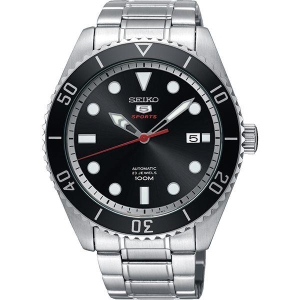 【SEIKO】精工 盾牌五號機械錶 SRPB91J1@4R35-02D0D 黑圈/銀 44mm