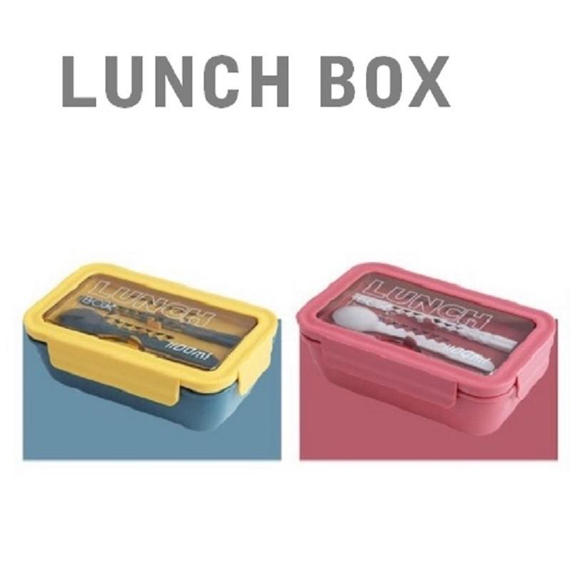 配色PP環保餐盒LUNCH BOX-1100ML/1400ML防漏設計 可微波 可當手機架【現貨】