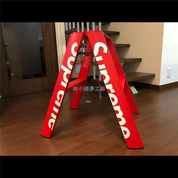 現貨supreme梯子同款18fw人字梯子攝影折疊梯家用室內鋁合金梯子