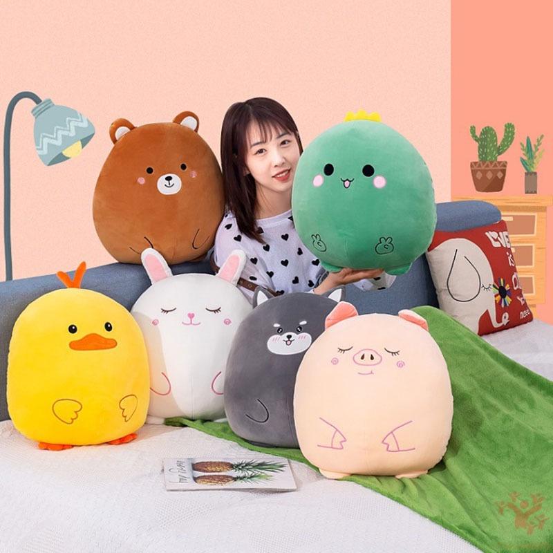 毛絨玩具卡通動物二合一枕頭和毛毯組合可愛空調露營車枕