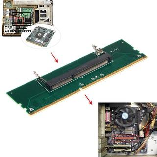 1.5V DDR3 204針筆記本電腦SO-DIMM至台式機DIMM插槽內存適配器