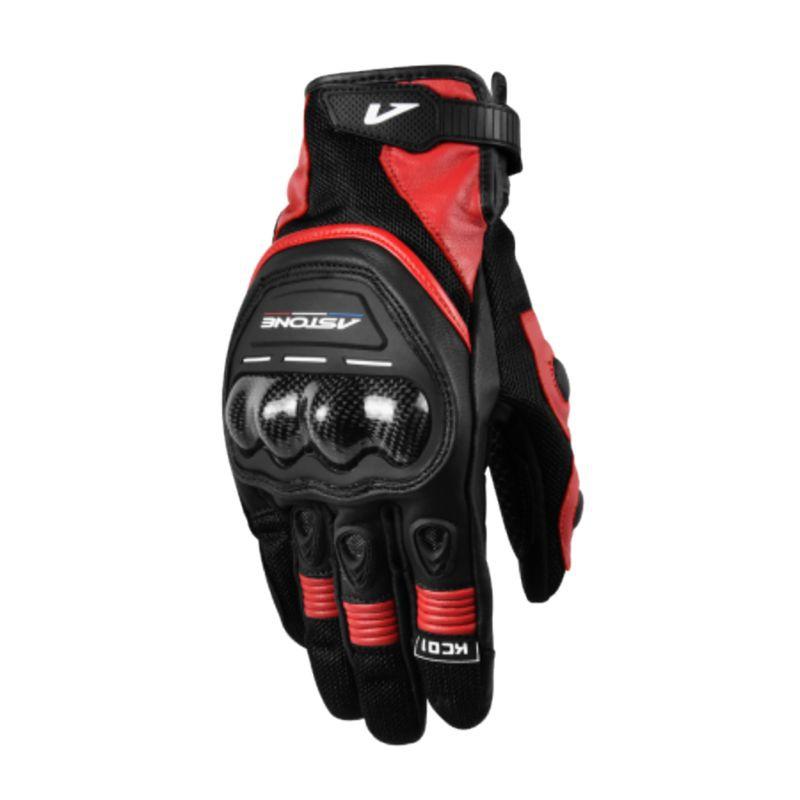 Astone 觸控透氣防摔手套 KC01 黑紅 防摔手套 可觸控 透氣 夏季手套《比帽王》