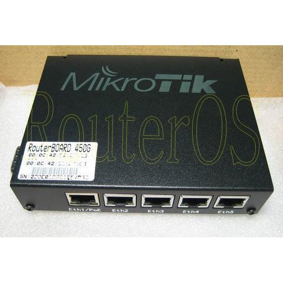【RouterOS專業賣家】Routerboard RB450G VPN 路由器 防火牆 含稅含運開發票