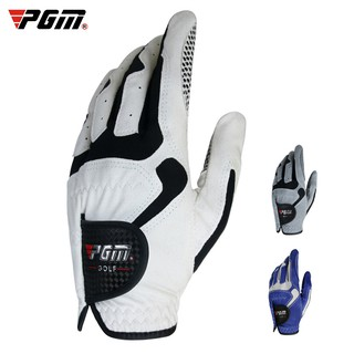 PGM高爾夫球手套男士高爾夫魔術手套單隻左右雙手防滑顆粒超纖布golf手套ST017 桃園市