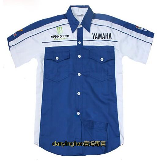 摩托車 車迷 雅馬哈賽車服 雅馬哈襯衫 YAMAHA運動襯衫 男裝襯衫 新版 機車服 短袖 經理衫