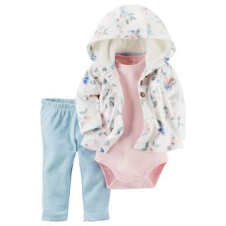 ♫♥Yo媽‧嚴選♥♫ Carter's正貨 女寶寶 刷毛碎花小外套套裝三件組 臺北市