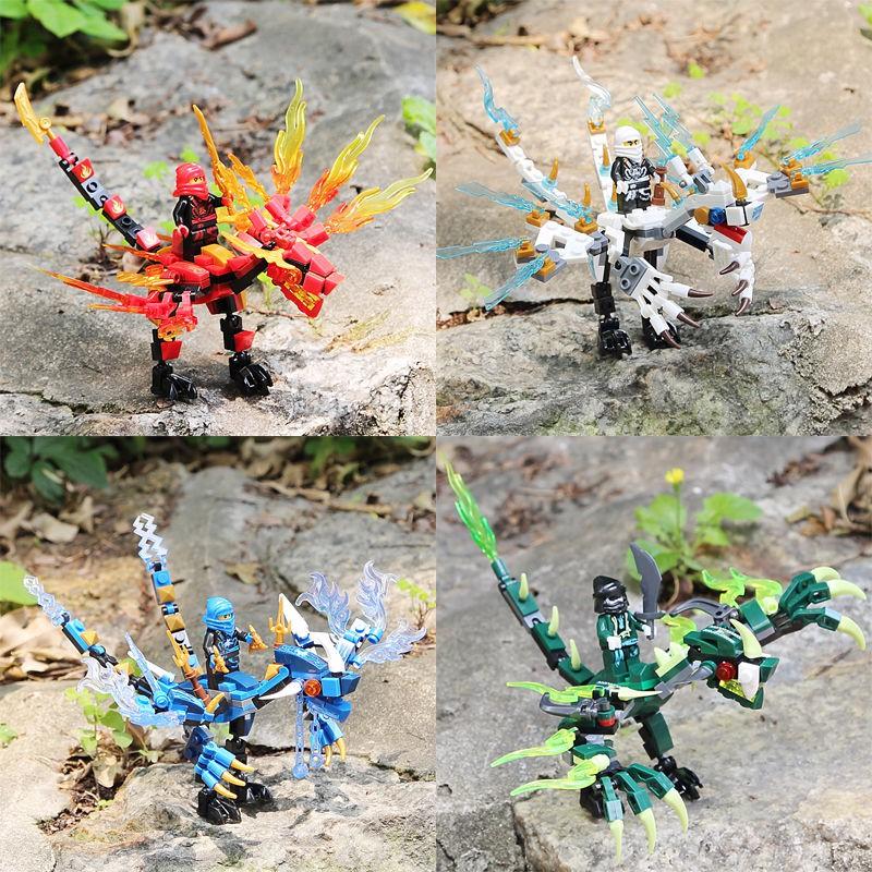 ▨₪樂高幻影忍者元素龍人仔拼裝益智積木玩具男生男孩子6-8-14歲兒童