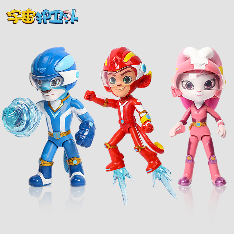愛動宇宙護衛隊玩具的可動公仔人偶全套風暴閃電彩虹能量兒童男孩