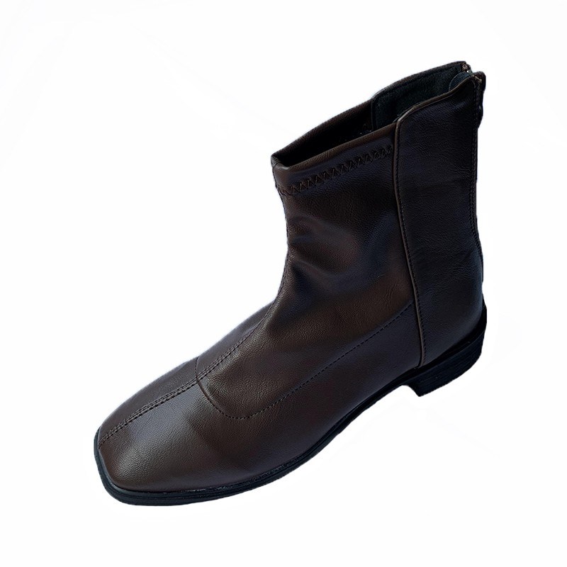 新款-2020年馬丁靴女英倫風2020秋冬季新款百搭彈力瘦瘦靴低粗跟短靴子