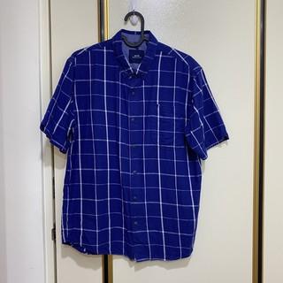 Ad-lib 經典基本單色格紋 短袖襯衫