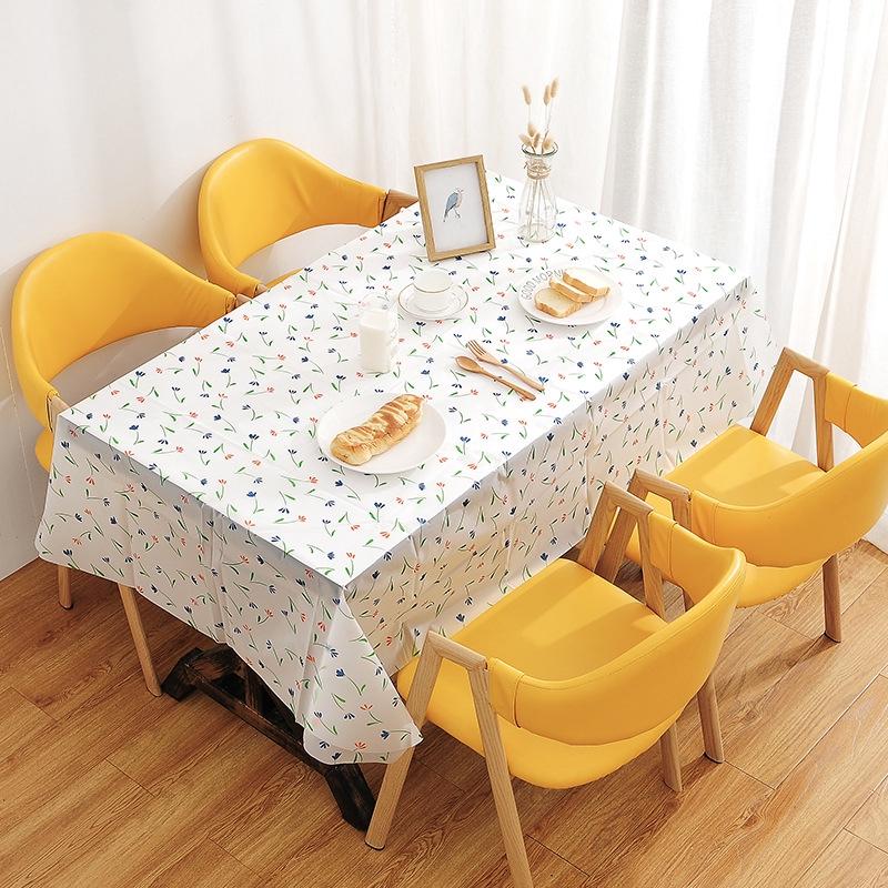 【現貨】田園餐桌布防水防油防燙免洗桌布臺布餐廳長方形茶幾桌墊
