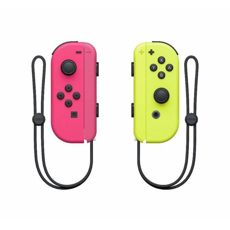 Nintendo Switch 【公司貨】 Joy-Con 電光粉紅黃色 左右手控制器 雙手把 【盒裝新品】台中星光電玩