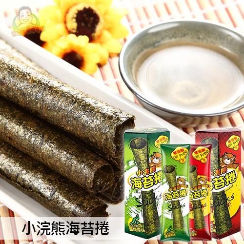 【泰國小浣熊】小浣熊海苔捲 原味/辣味 40g 海苔