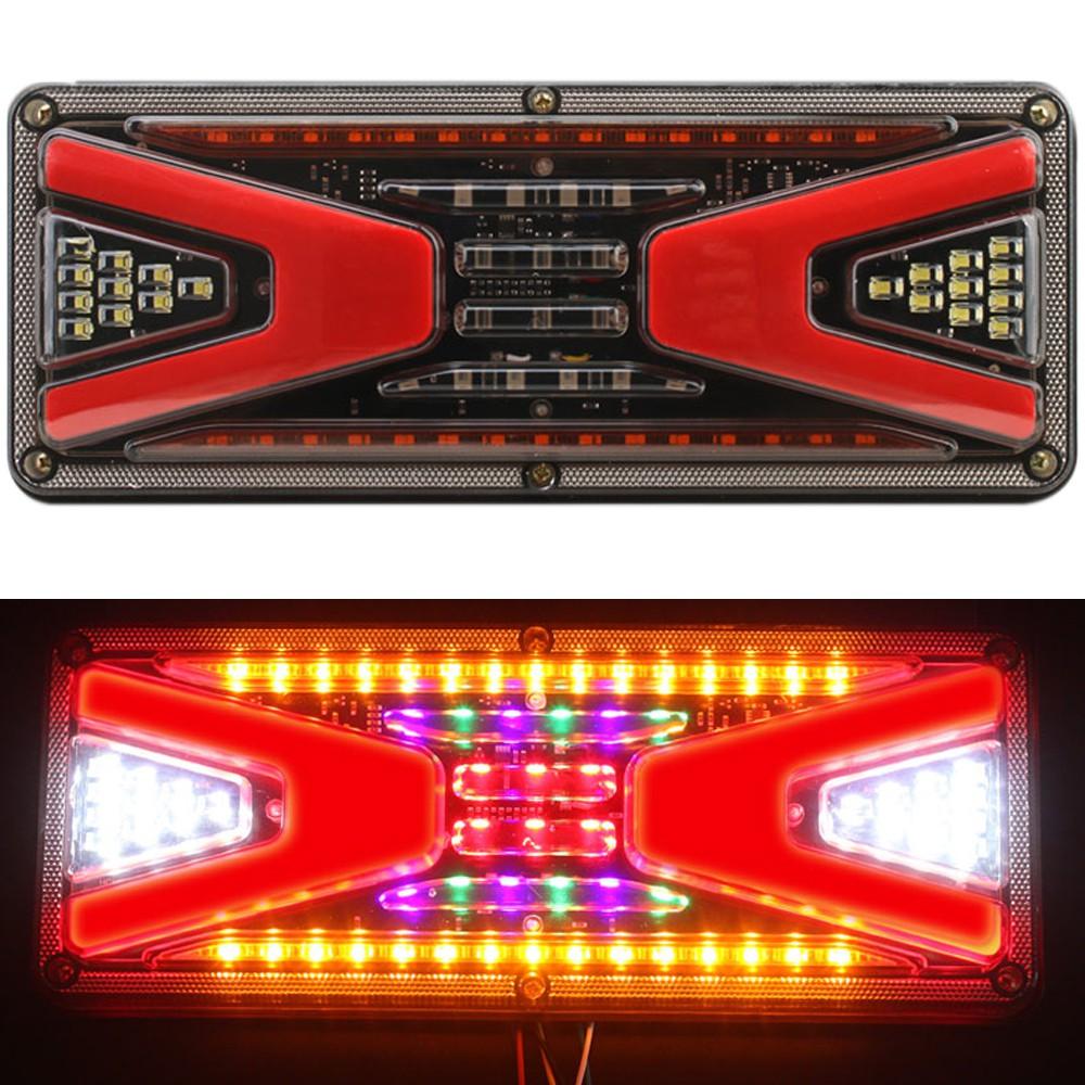 V型導光LED尾燈-小 24V 尾燈 後燈 剎車燈 煞車燈 警示燈 車尾燈 方向燈 轉向燈 小燈 貨車 卡車