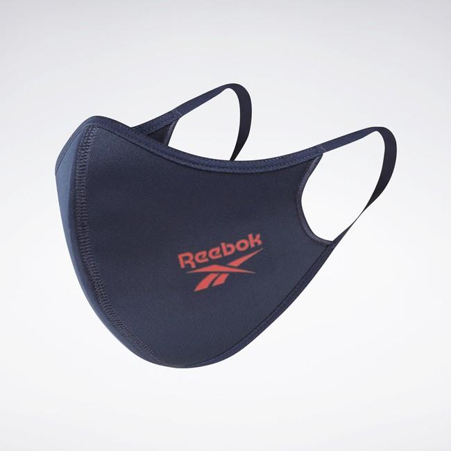 Reebok口罩 3片裝 透氣環保口罩 Reebok藍色口罩紅色口罩灰色口罩 HA0432