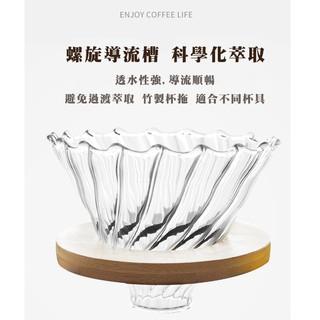 送量勺【現貨】木底座 玻璃濾杯咖啡濾杯 咖啡濾器V02 1~4人份 適用hario v02濾紙 新北市