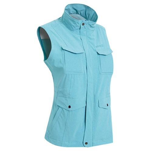 瑞多仕 DA2389 女多口袋背心(蓋袋款) 淺湖綠麻灰色 登山 釣魚 戶外休閒 RATOPS