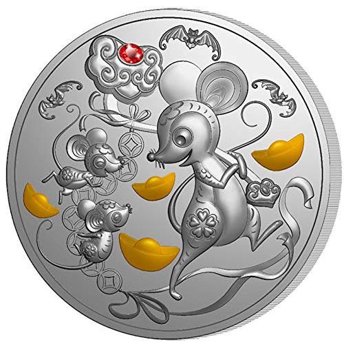預購 - 2020斐濟-生肖-鼠年-1盎司銀幣