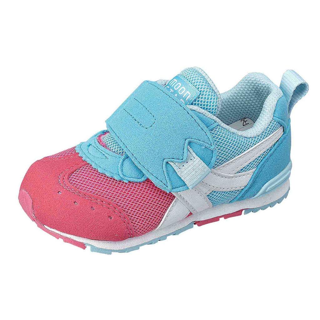 Moonstar HI系列十大機能寶寶鞋-粉藍