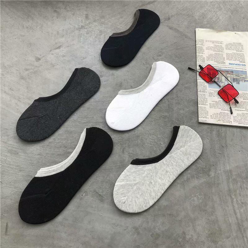 5色入 夏季新款熱賣 簡約色系短襪 純色襪子 隱形男襪 素色淺口短襪 (WWW07)【FIZZE】