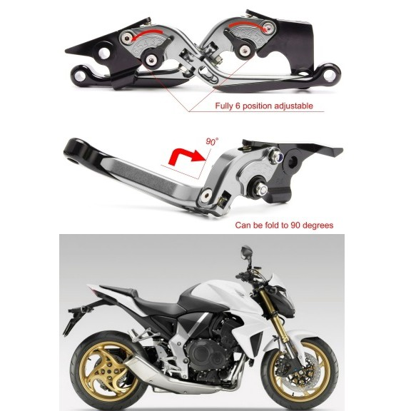 【老虎摩配】鈦款 HONDA CB1000R 2008~2018 六段調節式煞車拉桿 REX 雷克斯
