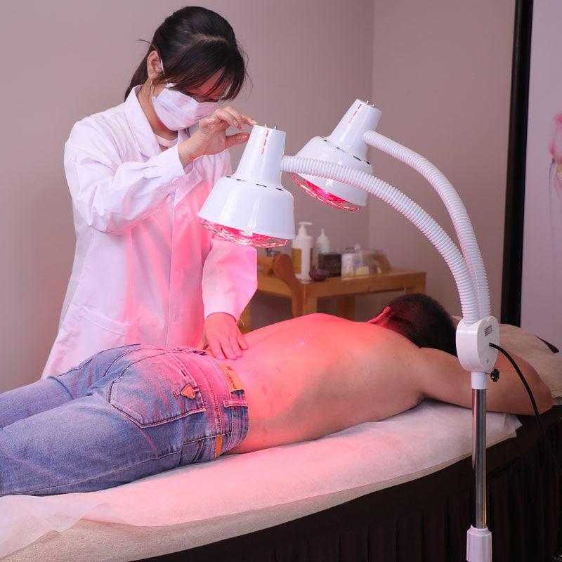遠紅外線理療燈家用電烤燈神燈理療器美容院紅外線加熱取暖燈泡