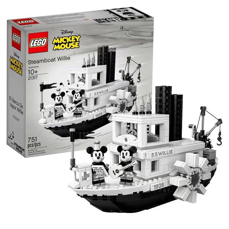 【現貨免運】【正品保障】樂高(LEGO)積木 21317米奇米妮汽船威利,輕壓盒