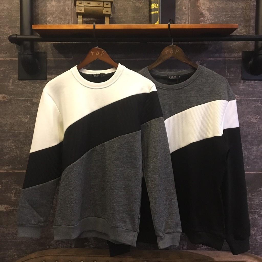 TOP_KOREA 內刷絨 斜紋拼接質感上衣 B963
