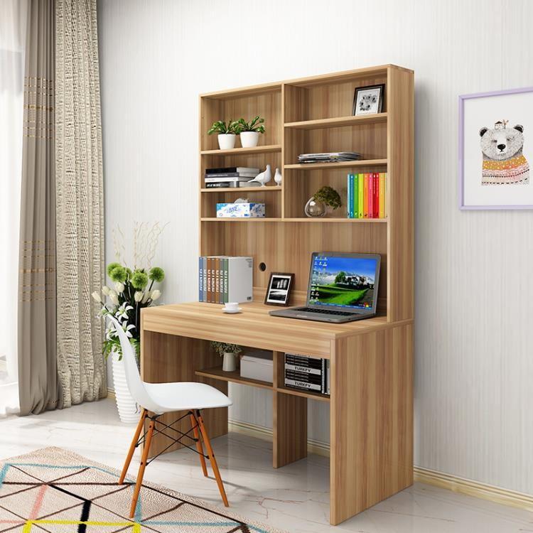 現貨直銷 電腦桌現代簡約台式書架一體桌家用經濟型書櫃組合學生雙人大書桌 安妮塔小舖《新鮮貨