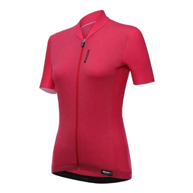 SANTINI SCIA「喚醒」女性短袖車衣 紅色