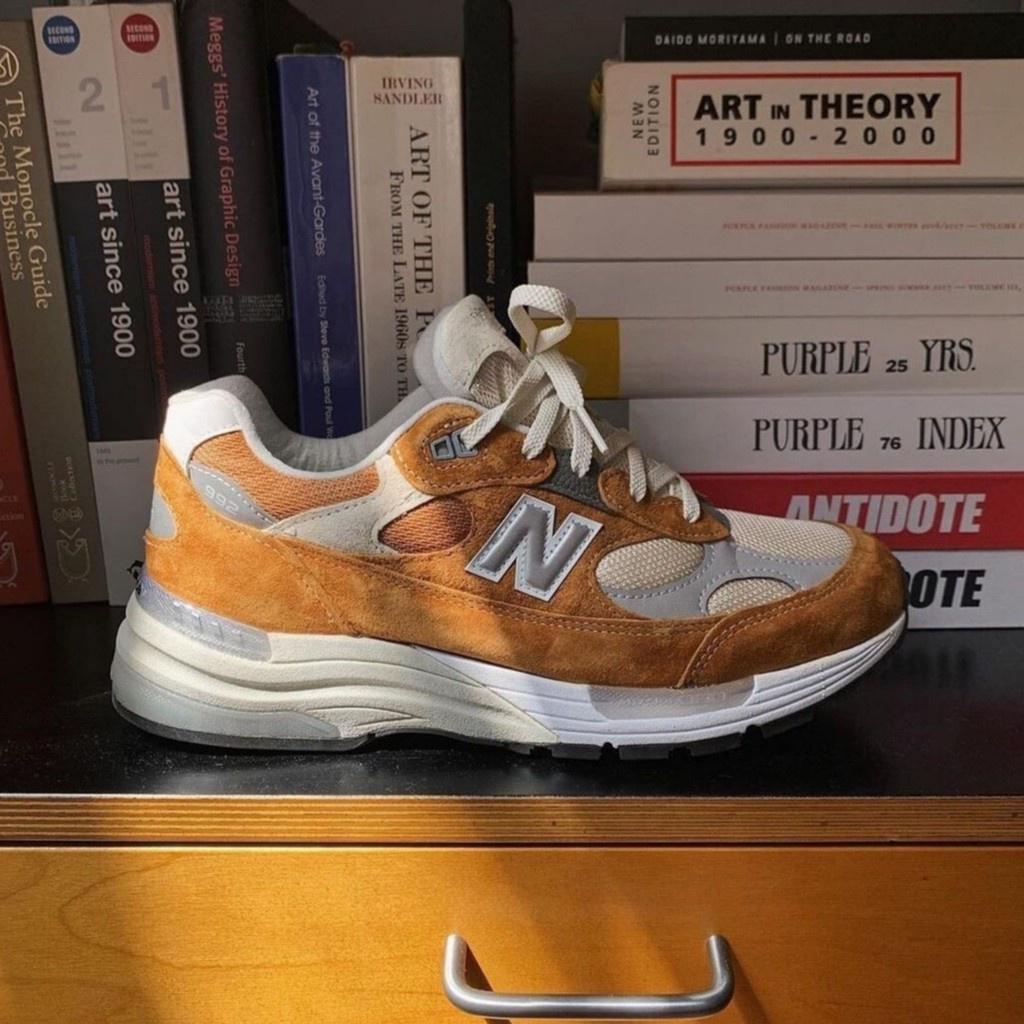 全新 Packer x New Balance 992 棕橘色 D寬 運動鞋 M992PK1